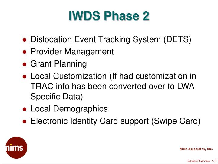 IWDS Phase 2