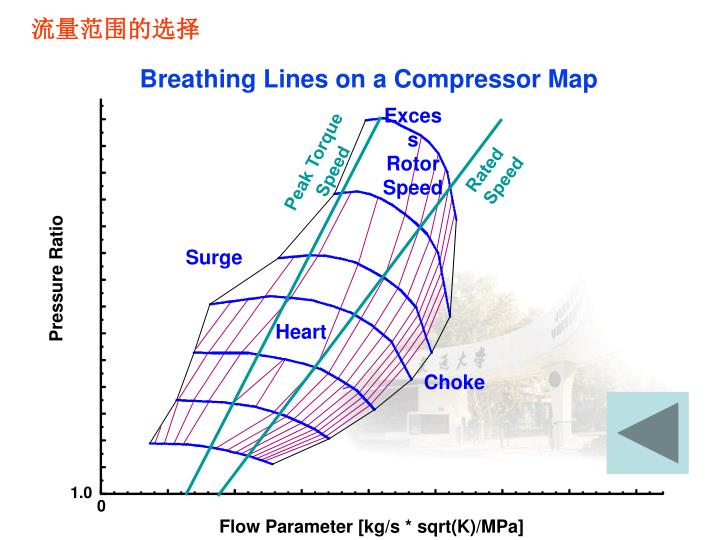 Breathing Lines on a Compressor Map