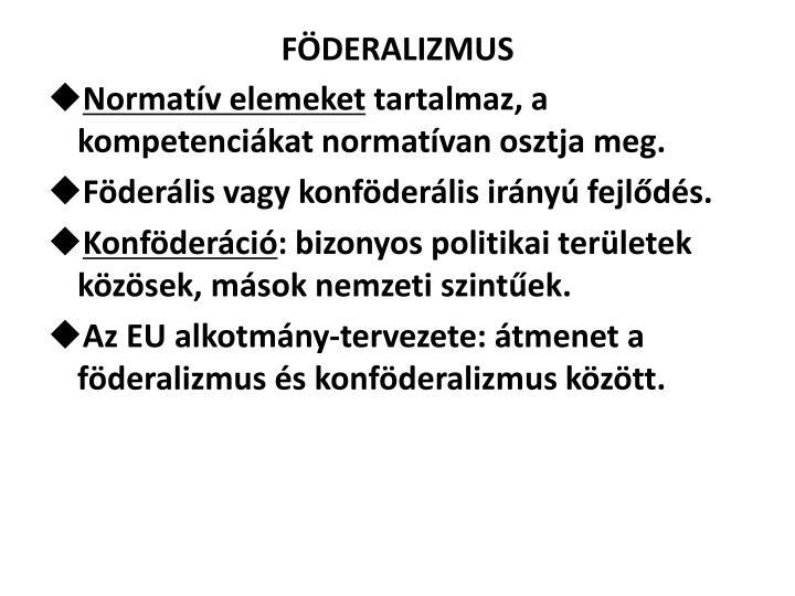 FÖDERALIZMUS