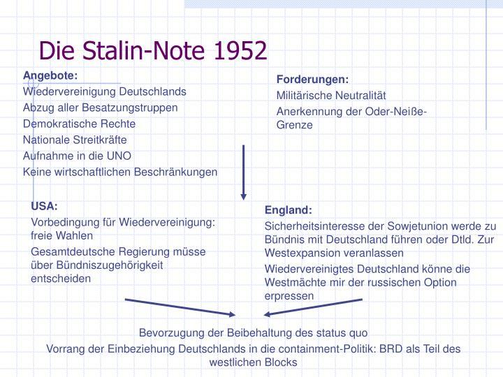 Die Stalin-Note 1952