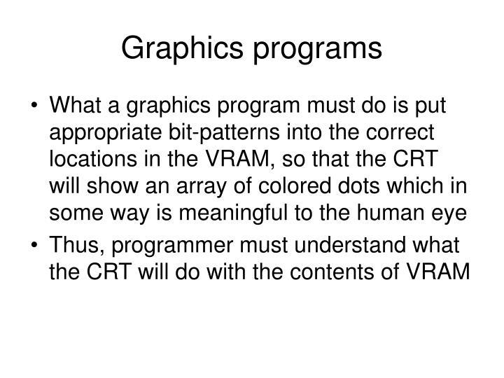 Graphics programs