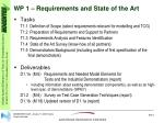 wp 1 requirements and state of the art