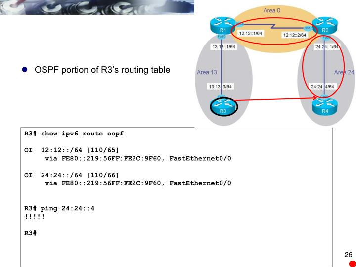R3# show ipv6 route ospf