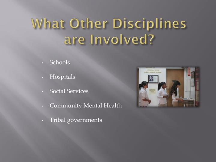 What Other Disciplines are Involved?