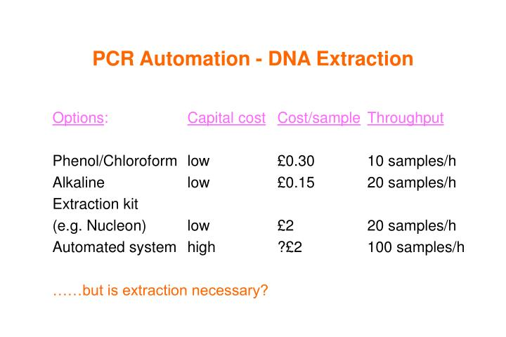 PCR Automation - DNA Extraction
