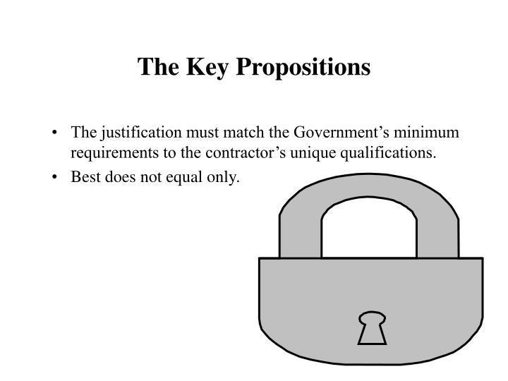 The Key Propositions
