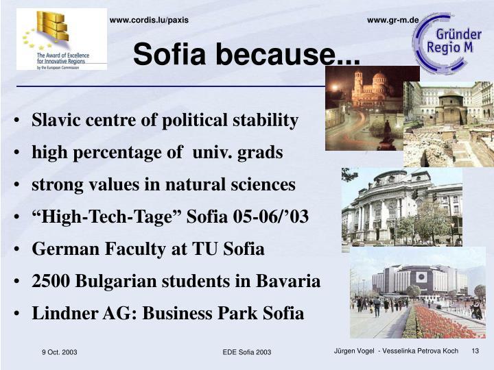 Sofia because...