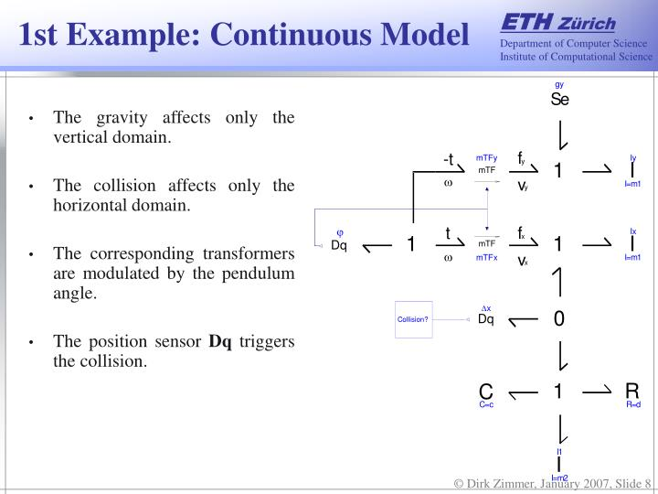 1st Example: Continuous Model