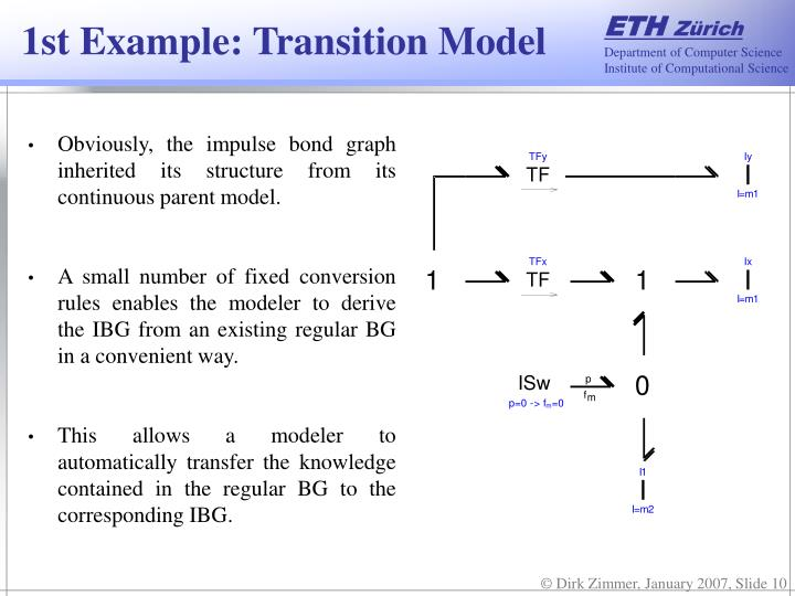 1st Example: Transition Model
