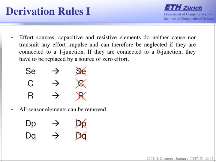 Derivation Rules I