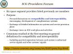 icg providers forum