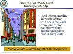 the goal of rnss civil interoperability