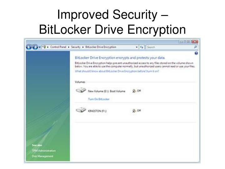 Improved Security –
