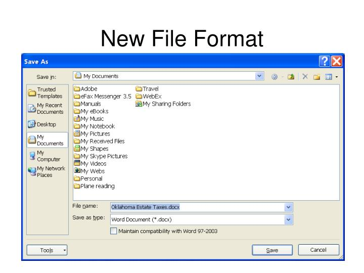 New File Format