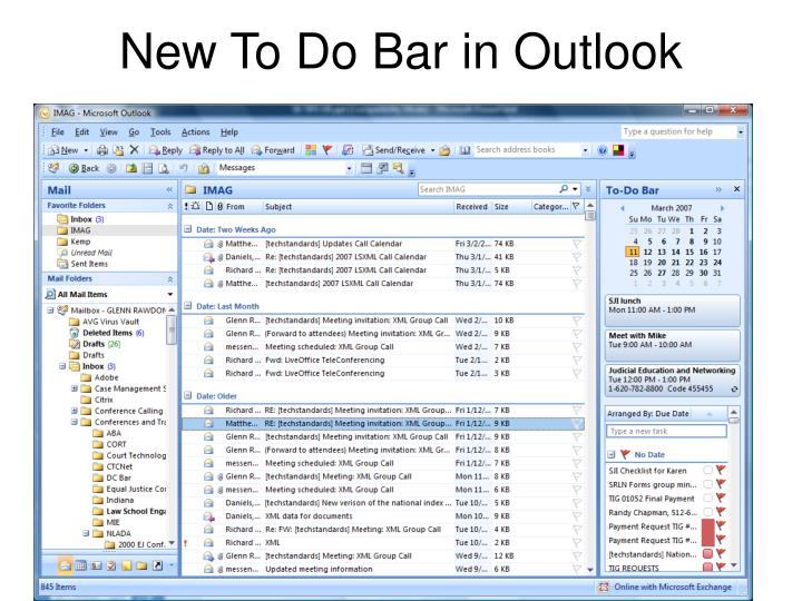 New To Do Bar in Outlook