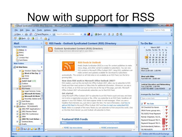 Now with support for RSS Feeds