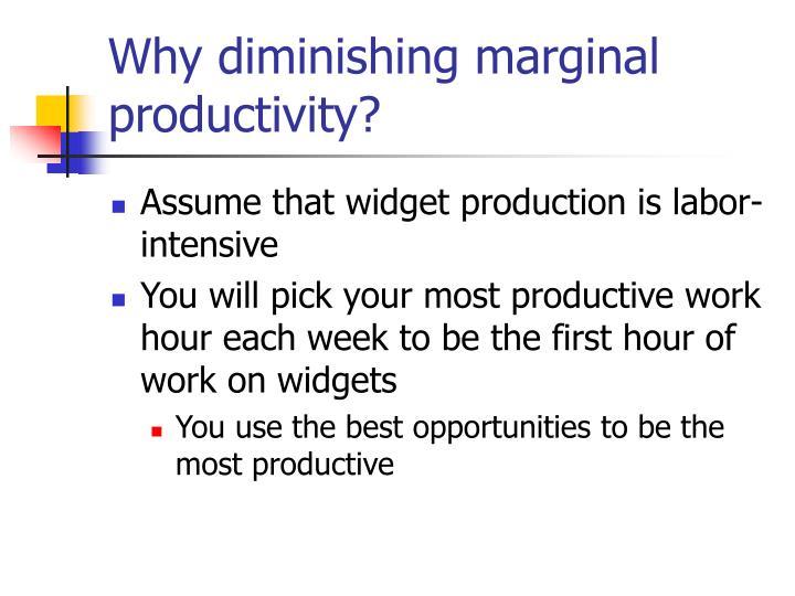 Why diminishing marginal productivity?