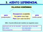 3 acento diferencial