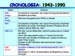 cronologia 1943 1990