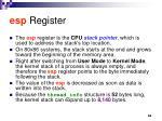 esp register