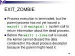 exit zombie