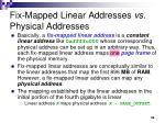 fix mapped linear addresses vs physical addresses