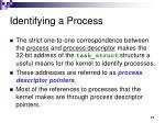 identifying a process