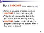 signal sigcont linux magazine hp