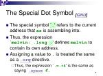 the special dot symbol gnu