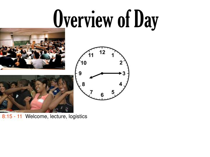 Overview of Day