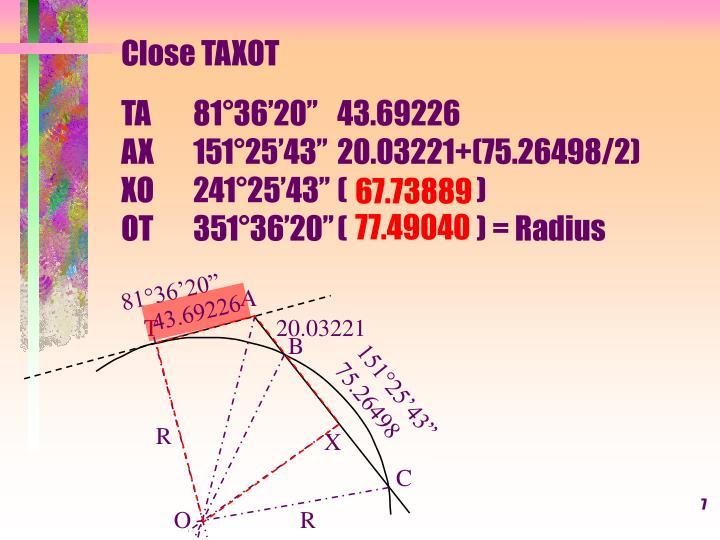 Close TAXOT