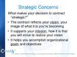 strategic concerns
