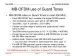 mb ofdm use of guard tones