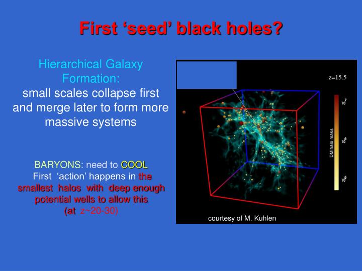 First 'seed' black holes?