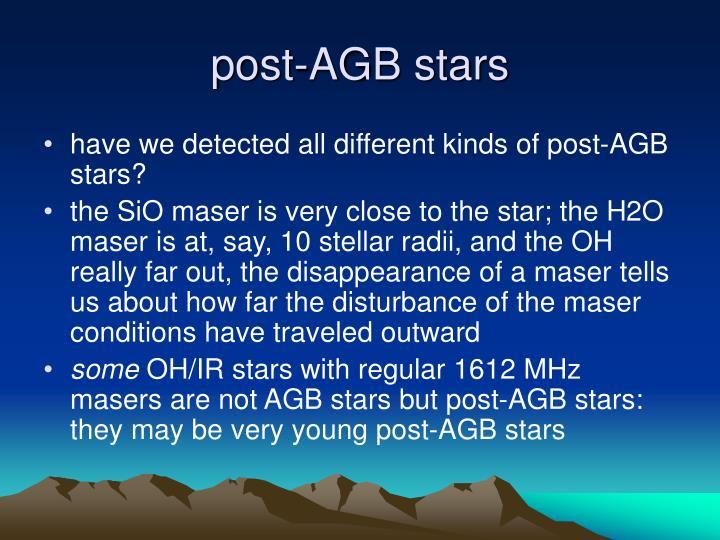 post-AGB stars