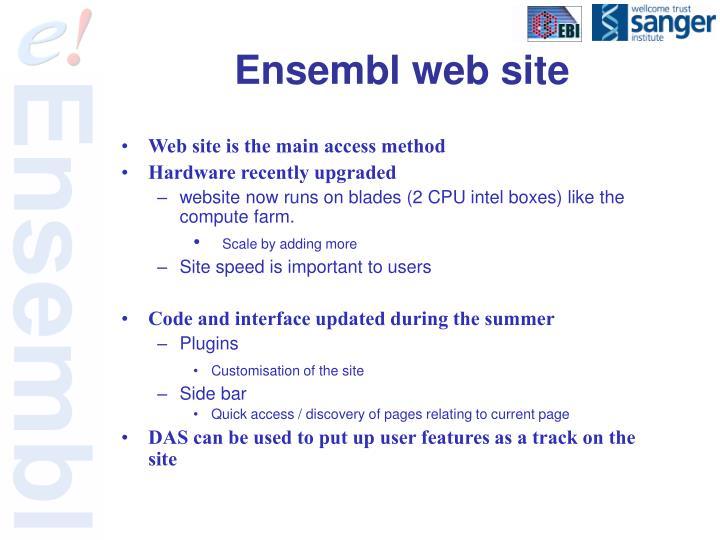 Ensembl web site