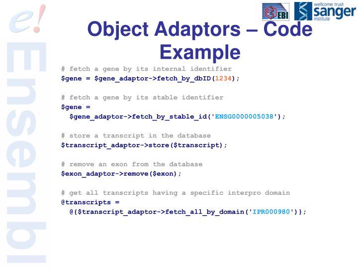 Object Adaptors – Code Example