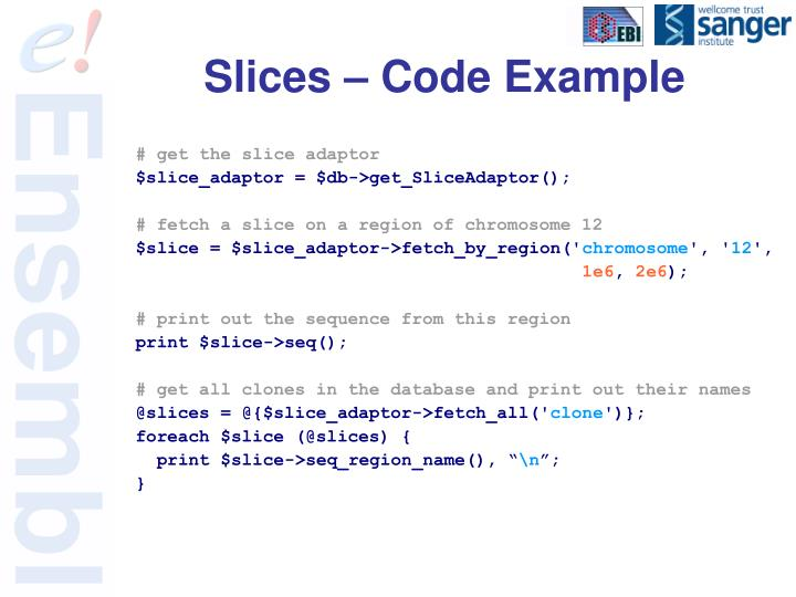 Slices – Code Example