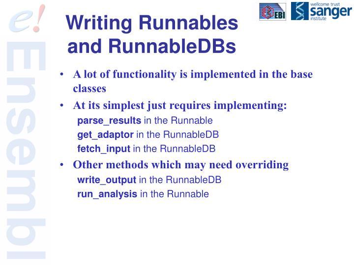 Writing Runnables and RunnableDBs