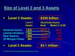 size of level 2 and 3 assets