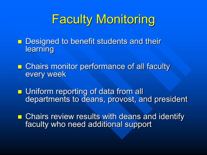 Faculty Monitoring