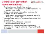 commission prevention recommendations
