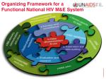 organizing framework for a functional national hiv m e system