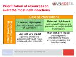 prioritization of resources to avert the most new infections