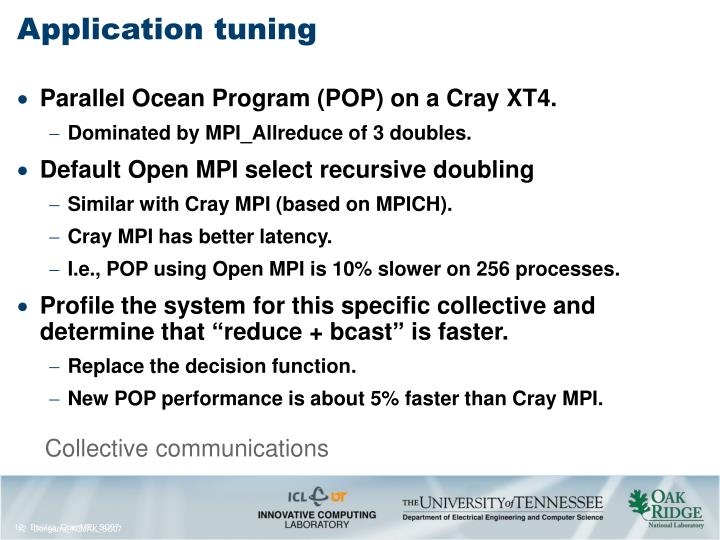 Application tuning