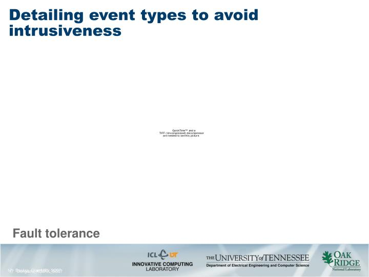 Detailing event types to avoid intrusiveness
