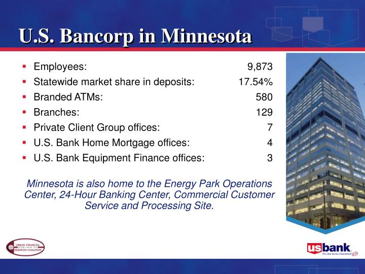 U.S. Bancorp in Minnesota
