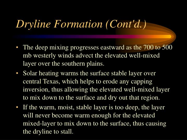 Dryline Formation (Cont'd.)