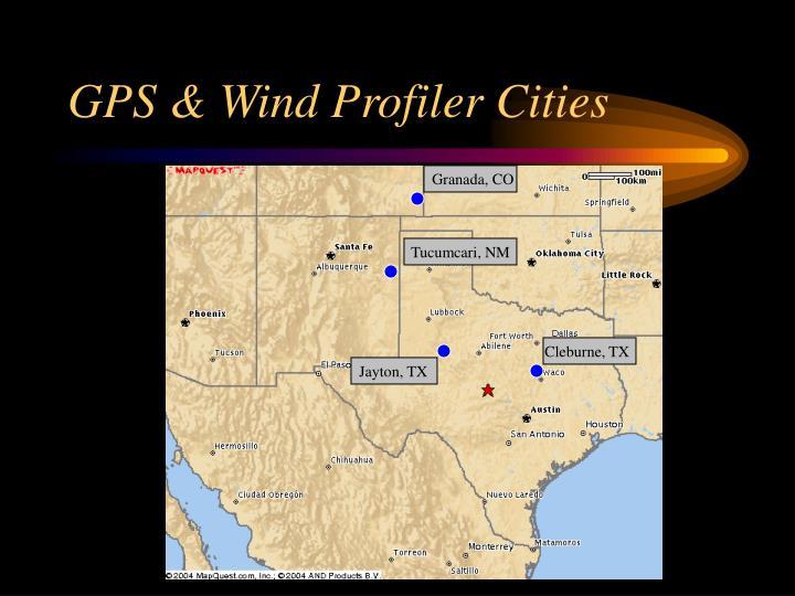 GPS & Wind Profiler Cities