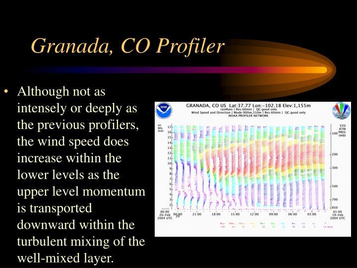 Granada, CO Profiler